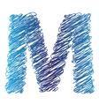 sketched letter M vector image vector image
