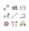 strength training rgb color icons set vector image vector image