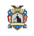 texas battleship emblem retro vector image vector image