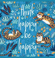 think happy be happy quote print vector image vector image
