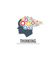 thinking brain imagination logo vector image