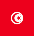 tunisia flag flat vector image