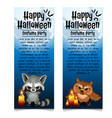 two vertical cards on theme halloween vector image vector image