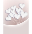Valentine background with hearts EPS 10 vector image vector image