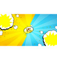 versus letters fight banner vector image vector image