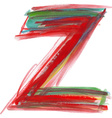Watercolor Font LETTER Z vector image