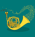 with snail trumpet vector image vector image