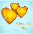yellow valentines day design composition vector image vector image