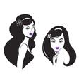 beautiful woman icon vector image