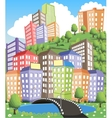City view vector image