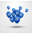 Trendy beautiful background with blue baloons and vector image