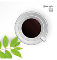coffee americano in a white cup vector image
