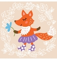 Cute fox vector image