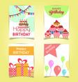 happy birthday cards vector image