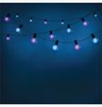 Glowing garland light bulbs vector image