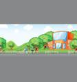 a school building background vector image vector image
