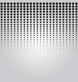 abstract black vertical dropped dots halftone vector image