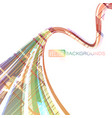 abstract color lines motion on a white vector image vector image