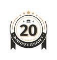 birthday vintage logo template to 20 th
