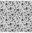 black and white abc letter background seamless vector image vector image