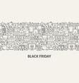black friday banner concept vector image vector image