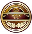 Black Tea Vintage Label vector image vector image