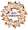 bright simple autumn wreath with hand written vector image vector image