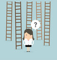 businesswoman choices ladder to success vector image vector image