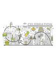 celebration concept flat line art vector image