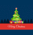 christmas background with decorated vector image vector image
