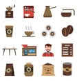 Coffee Shop Flat Icons Set vector image vector image
