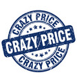 crazy price blue grunge stamp vector image vector image