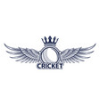 cricket sport logo vector image