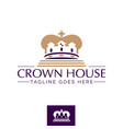 crown house symbol concept vector image