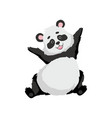 cute happy baby panda bear funny lovely animal vector image vector image