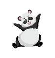 cute happy baby panda bear funny lovely animal vector image