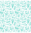 dentist orthodontics seamless pattern with line vector image vector image