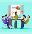 diversity group people meet up presentation vector image vector image