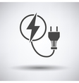 Electric plug icon vector image vector image