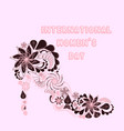 female shoes in vintage style flowers vector image vector image