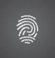 fingerprint sketch logo doodle icon vector image vector image