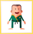 flat style male avatar character design vector image vector image