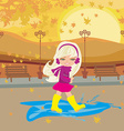 fun in the autumn day vector image