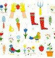 gardening funny seamless pattern for kids vector image vector image
