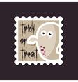 Halloween Ghost stamp vector image vector image