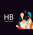 happy birthday card amorphous abstract vector image vector image