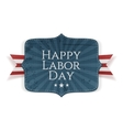 Happy Labor Day Text on Banner vector image vector image