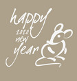 happy new year card with mouse 04 vector image vector image