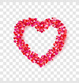 heart frame romantic decoration element for vector image vector image