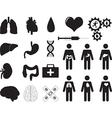 Human organs and medical tools vector image vector image